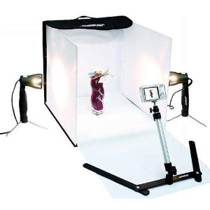 Konig mini photo studio - transportabelt fotostudio Pris ca. 300 kr/ 39 EURO på Amazon