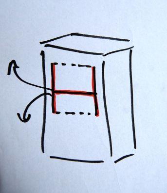 H snittet Bemærk a den nederste del i H'et er ca 1/3 mens overdelen i H'et er ca 2/3